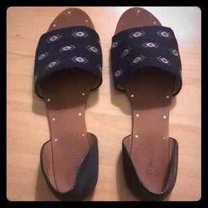 Madewell Blue Cloth Sandals Sz 7.5